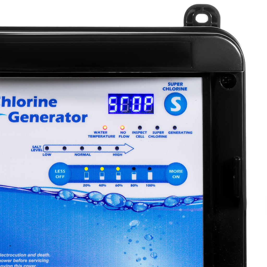 Complete Salt Water Pool Chlorine Generator System for 18,000 Gallon Chlorinator