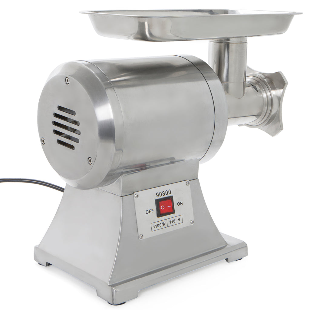 12# Commercial Stainless Steel 1HP Meat Grinder Blade Plate Sausage Stuffer FDA
