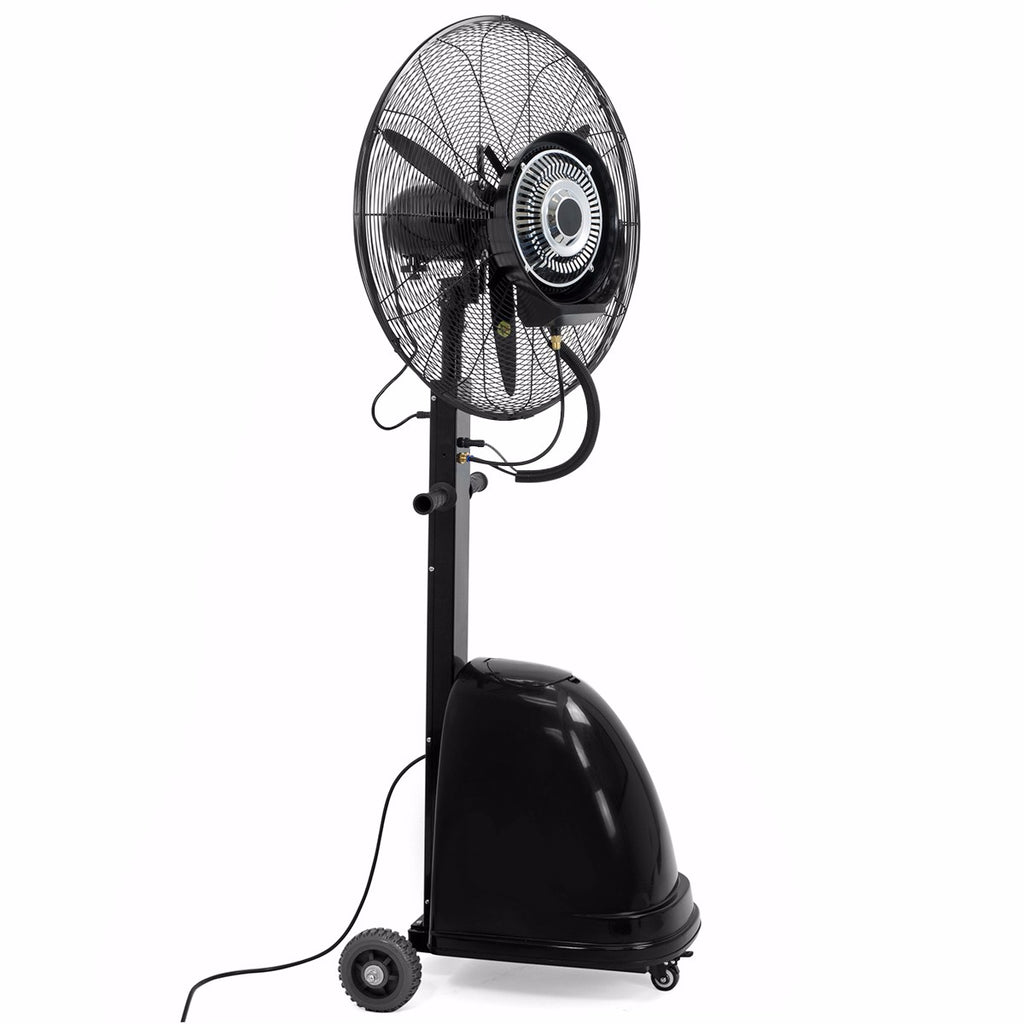 "Commercial 26"" High-Velocity Outdoor indoor Mist Fan Black Industrial Cooling"