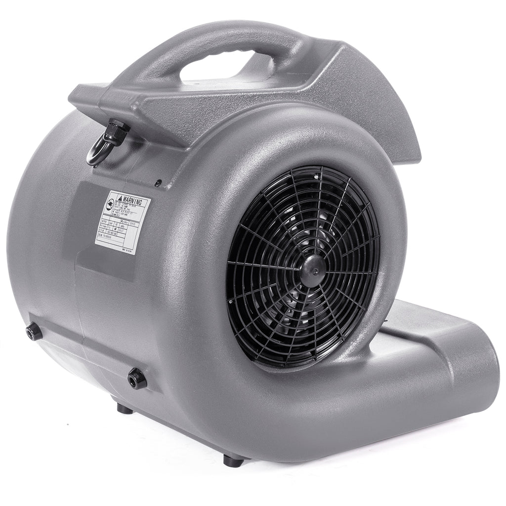 3/4HP Air Mover Blower Powerful Carpet Dryer Floor Drying Fan 3-Speed High Flo