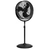 "20"" Pedestal Fan Adjustable 3-Speed Control Standing Fan Floor Shop Garage Black"