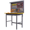 Multipurpose Workbench Workshop Tool Storage Tabletop Workstation Worktable with Sliding Organizer Drawer (Grey)