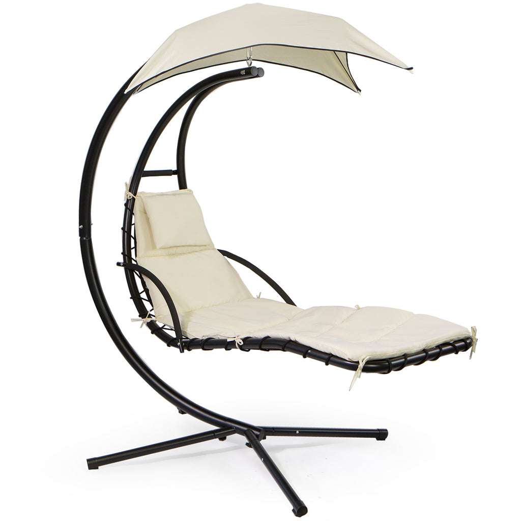 Floating Swing Chaise Lounge Chair Hammock Lounger Hanging Curved