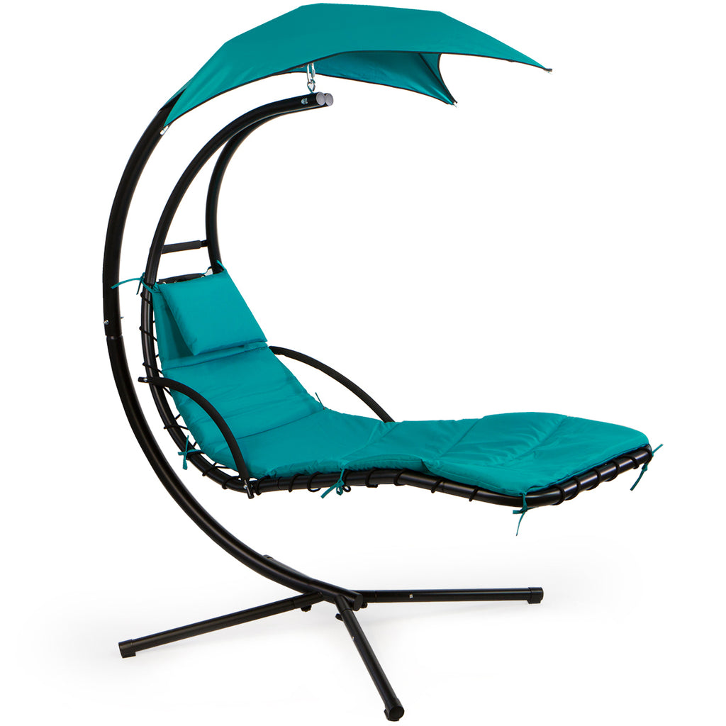 Patio Hanging Helicopter Dream Lounger Chair Stand Swing Hammock Chair Xtremepowerus
