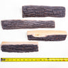 8PC Set Realistic Flame Large Ceramic Wood Ash Logs Fire pit Log Kit