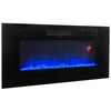 "40"" 1500W Recessed / Wall Mount Fireplace Electric Insert Heater Multi Flames"