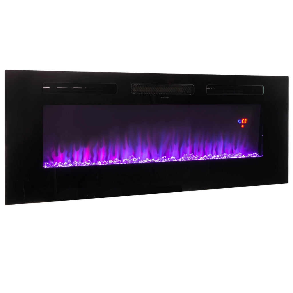 "50"" Electric Fireplace Recessed insert or Wall Mounted Standing Electric Heater"