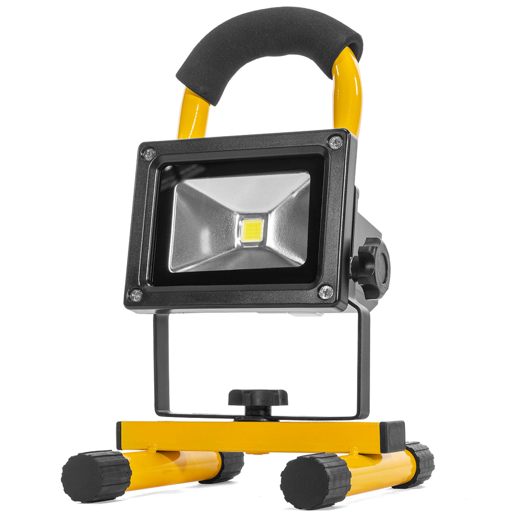 Rechargeable Power LED Cob Work Light Adjustable Stand Waterproof Battery, 10W