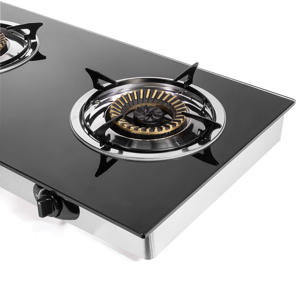 Propane Gas Range Stove 2 Burner Rv Camping Tempered Glass Cook Top Au Xtremepowerus