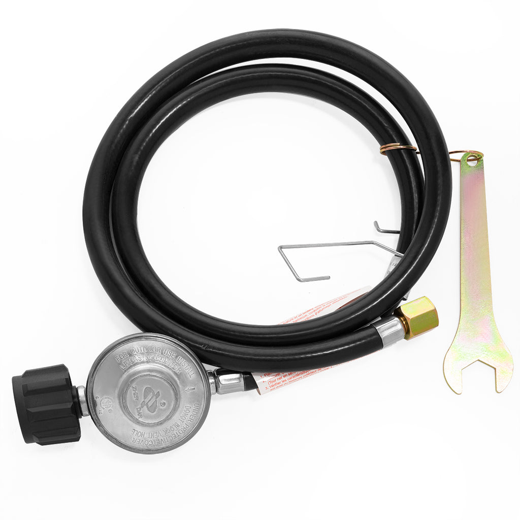 Propane Regulator Hose Gas Tank LPG Low Pressure BBQ Grill Smoker Stove Burner