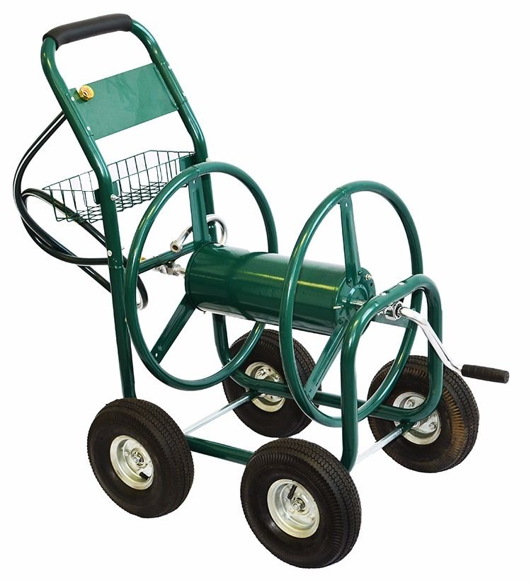XtremepowerUS Garden Water Hose Reel Cart 300 FT Outdoor HD Yard Planting