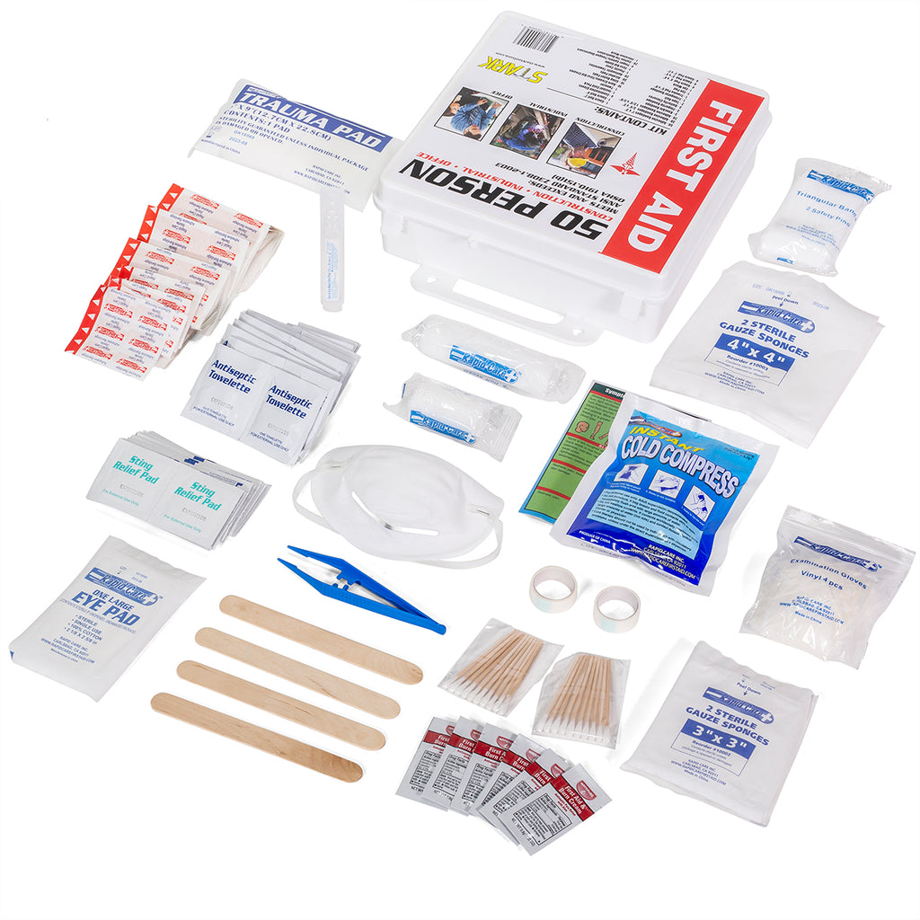 50 Person Medical First Aid Kit Home office Commercial business Health Care ANSI