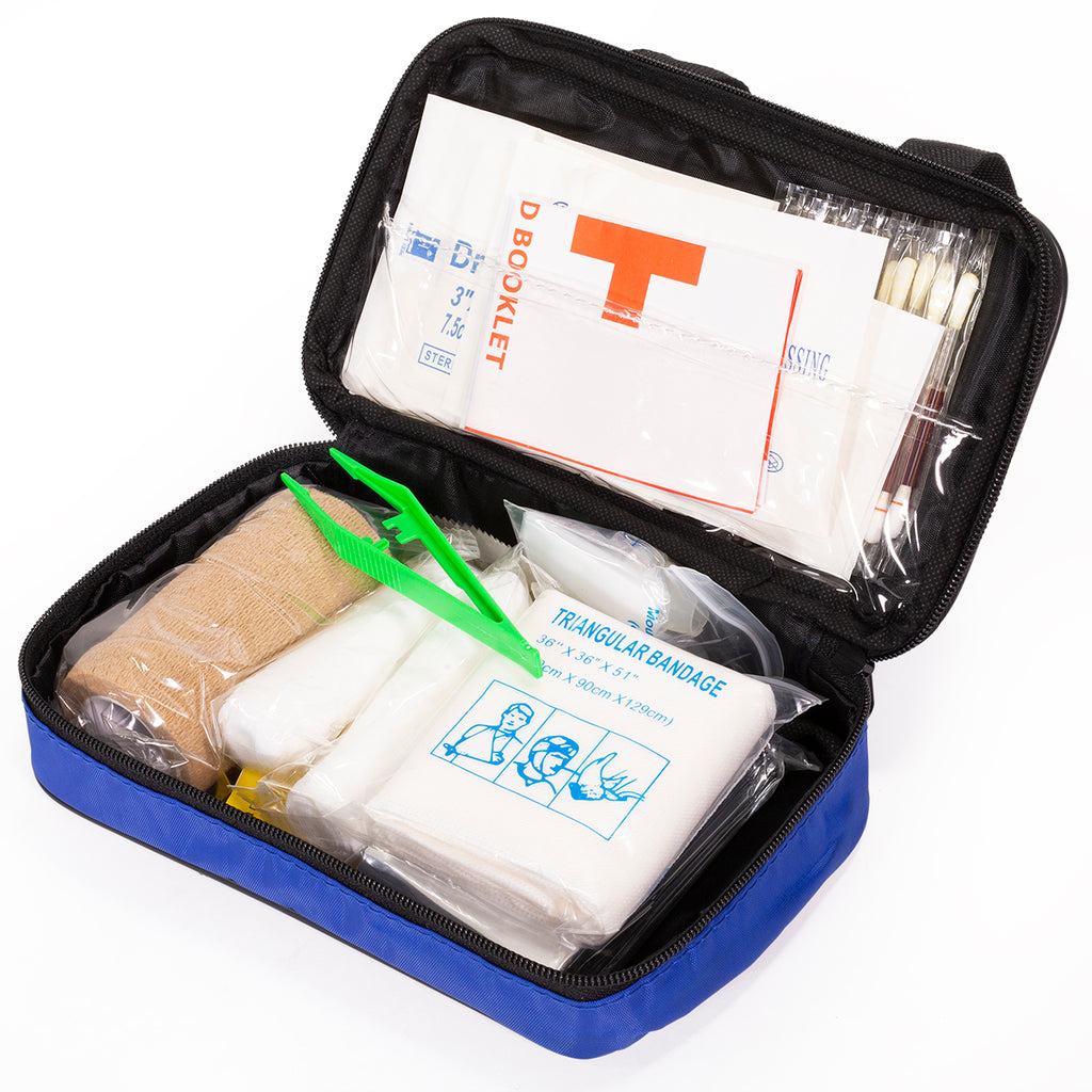 55pc First Aid Kits Emergency Medical Bag Outdoor Indoor FPA Approved Medicine