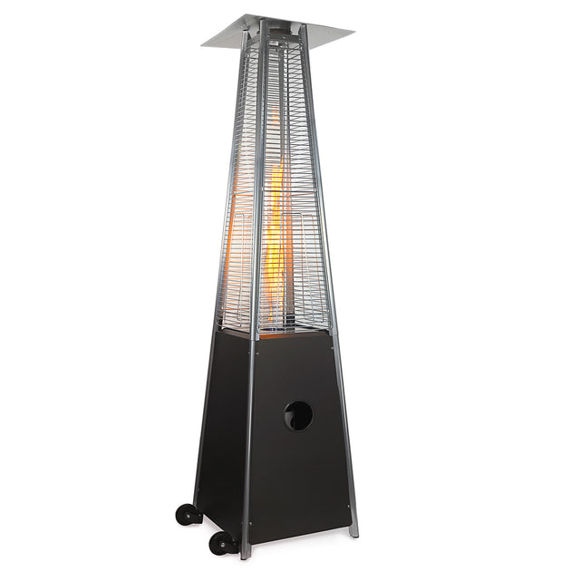 XtremepowerUS Hammered Bronze 42,000 BTU Deluxe Pyramid Glass Tube Patio Heater-Full Size