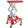 Motorcycle Dirt Bike ATV Scissor Jack Lifts Hoist Mini Crank Hydraulic Operated with Wheels