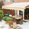 8' x 6' FT. Manual Retractable Patio Awning Deck Sun Shade Shelter Canopy Tan