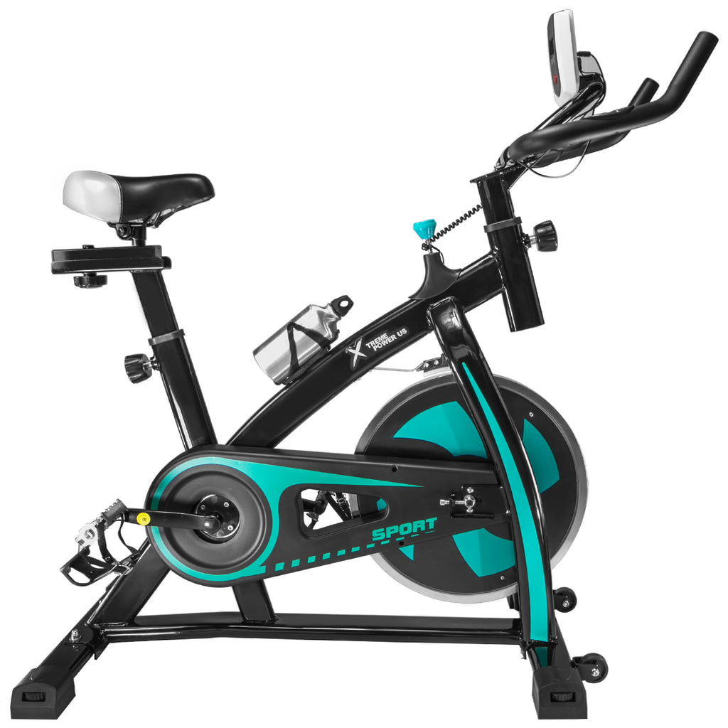 Pro Stationary Trainer Exercise Bike Indoor Cardio Cycling Bicycle, Aqua