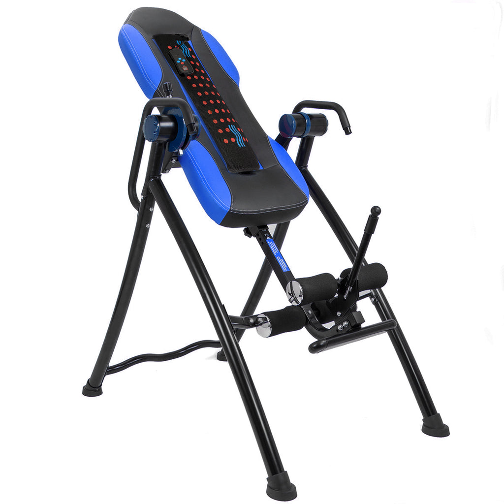 XtremepowerUS Gravity Inversion Therapy Table Fitness Back Pain Relief w/ Padded Backrest