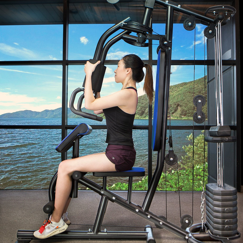 Deluxe Home Gym Fitness Exercise Workout Machine Bench Weight Stack Equipment