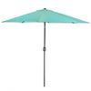 9Ft Outdoor Patio Umbrella Market Table Yard Garden w/ Crank Tilt Shade, Aqua