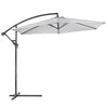 10ft Outdoor Deck Patio Umbrella Off Set Tilt Cantilever Hanging Canopy, Grey