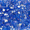 "Premium Cobalt Blue 1/2"" Reflective Fireplace Fireglass Landscaping 10-Pound"