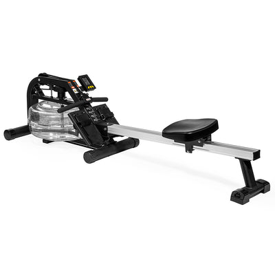 Water Rowing Machine Home Water Rower Adjustable Resistance LCD Monitor Fitness