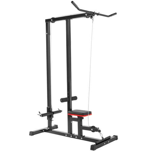 XtremepowerUS Lat Machine Low Row Cable Pull Down Fitness Machine