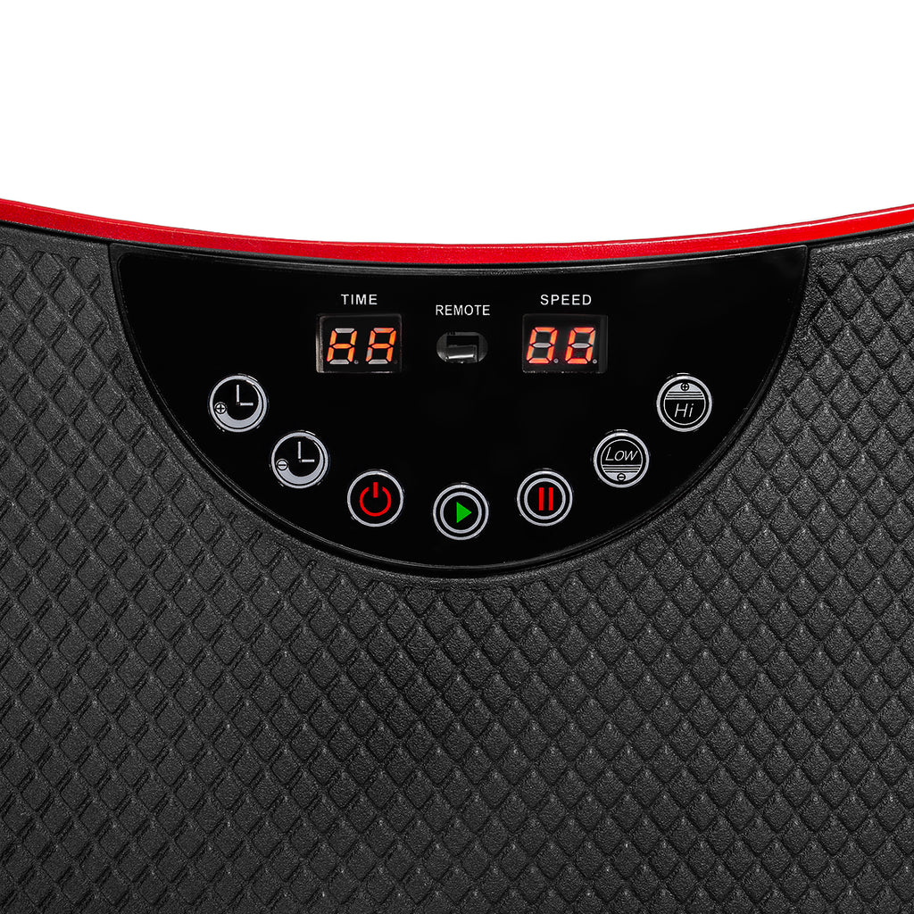 Ultra Thin Mini Crazy Fit Vibration Platform Massage Machine Fitness Gym, Red