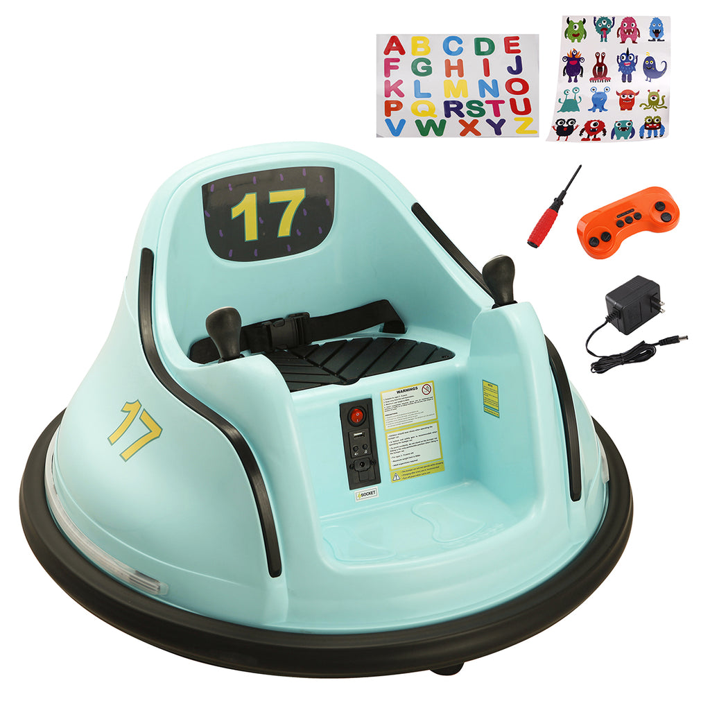 6V Kids Electric Ride On Bumper Car 360 Spin ASTM-Certified w/ Remote Control