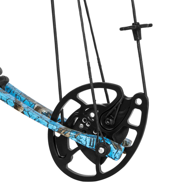 "XtremepowerUS Compound Bow 40-50 Lbs 23"" to 30"" Archery Hunting Equipment, Right Handed, Blue"