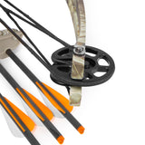 XtremepowerUS Crossbow 180 lbs 320 fps Hunting Equipment with Quiver and 3 pcs Arrows