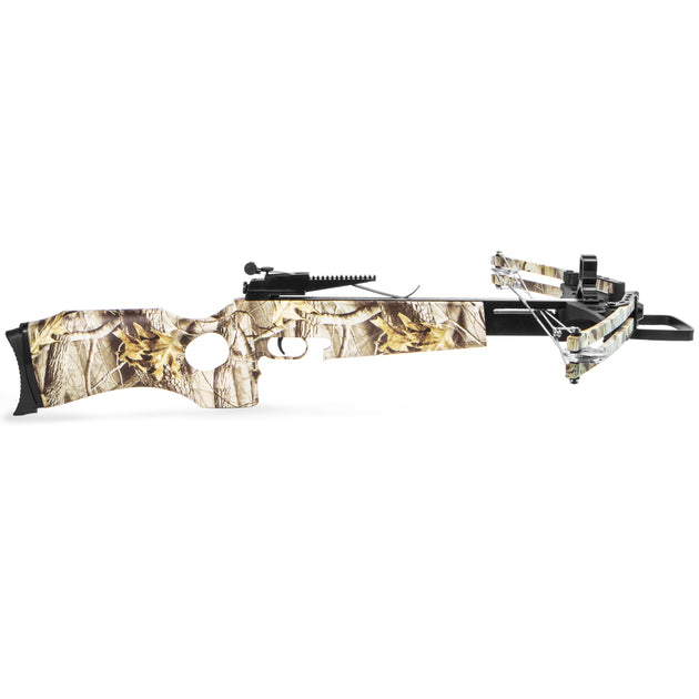 XtremepowerUS Crossbow 180 Lbs 300 fps Hunting Equipment w/ Carry Bag, Camo
