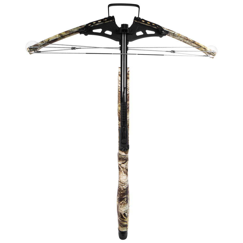 XtremepowerUS 300fps Hunting Crossbow Arrow Anti Dry Fire Aim w/ Carry Bag, Camo