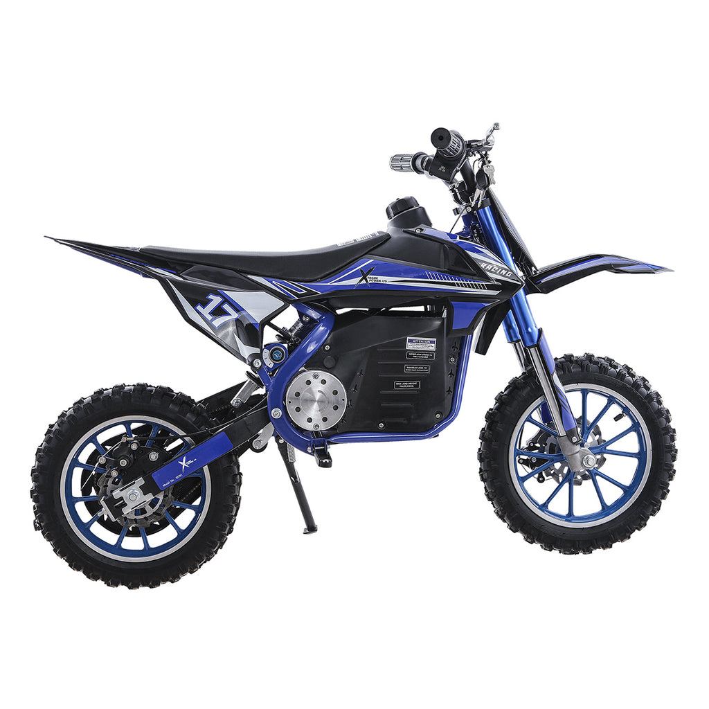 36V Ride-On Off-Road Dirt Bike eBike Electric-Powered Motorcycle Shock Blue
