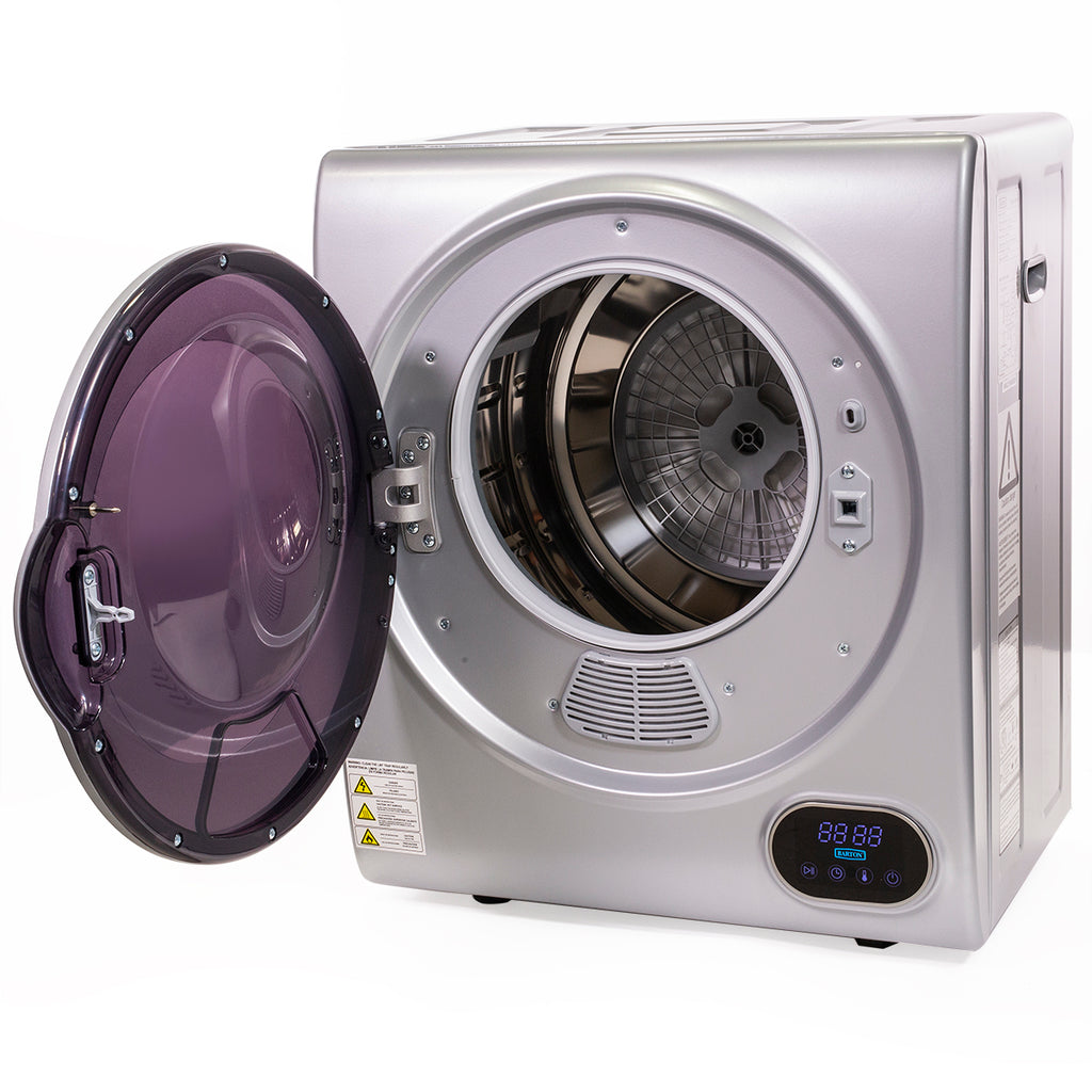 Automatic Portable Electric Clothes Digital Dryer Machine Laundry Dry with Timer, Silver