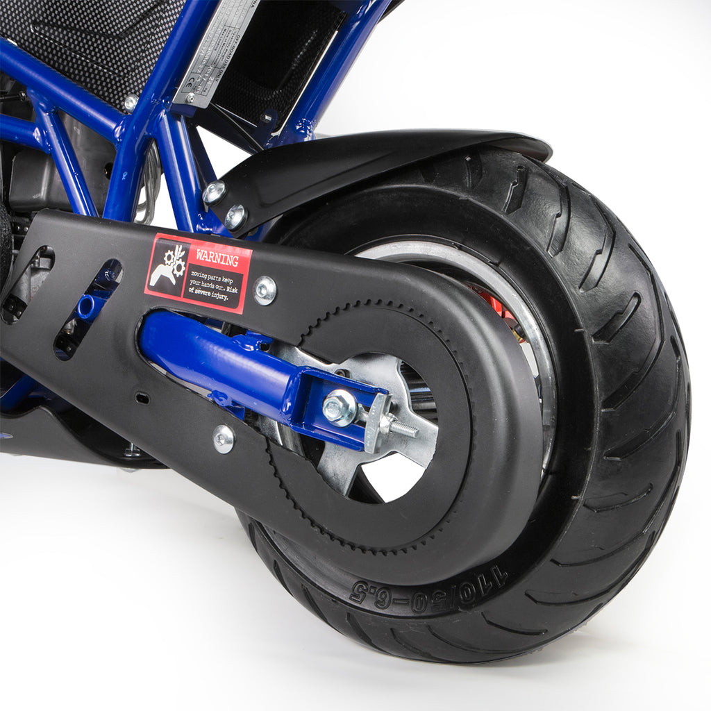 40cc 4-Stroke Gas-Powered Mini Pocket Motorcycle Ride-on Seat EPA Approved (Blue)