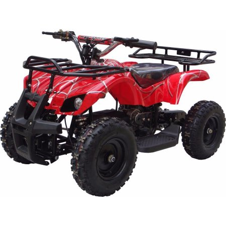 XtremepowerUS Mini Electric Sonora Quad Battery-Powered ATV Red