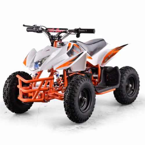 XtremepowerUS ATV Outdoor Electric Titan 24V 350W 2 Adjustable Speed White