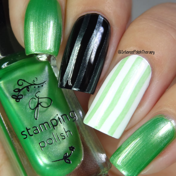 #43 Green means GO! - Nail Stamping Color (5 Free Formula)
