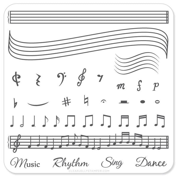 Music & Notes (CjS-11) - Steel Stamping Plate