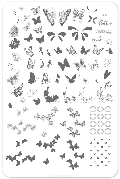 Butterfly Wishes (CjS-80) Steel Stamping Plate