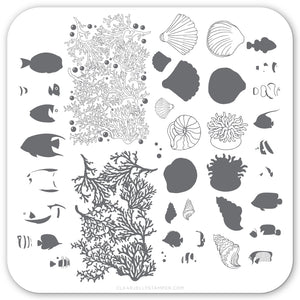 Suzie's Tropical Fish (CjS LC-49) Steel Stamping Plate