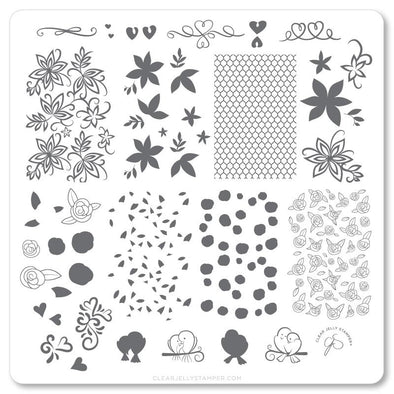 Lace & Floral (CjSV-25) Steel Stamping Plate