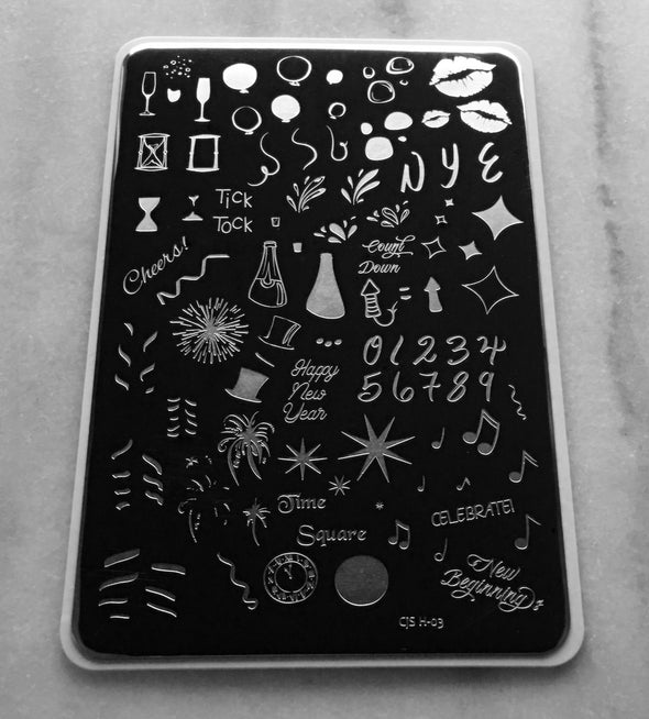 Happy New Year! (CjSH-03) - Steel Stamping Plate