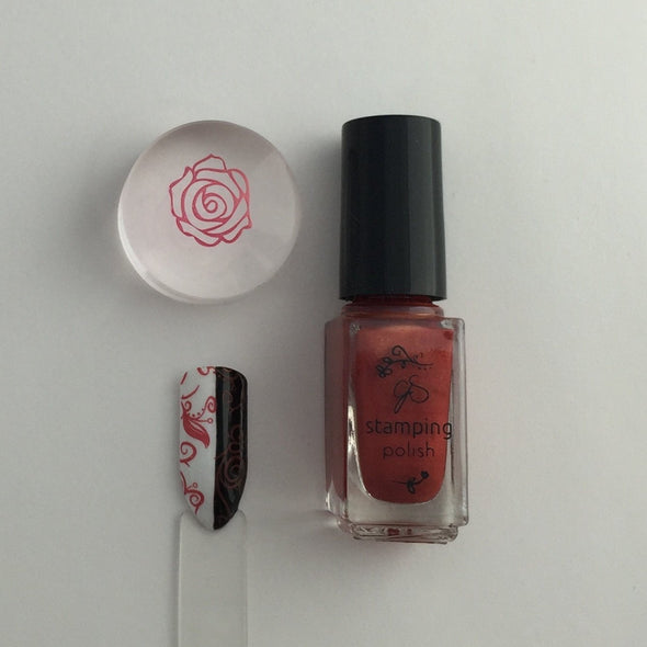 #24 Copper Rose - Nail Stamping Color (5 Free Formula)