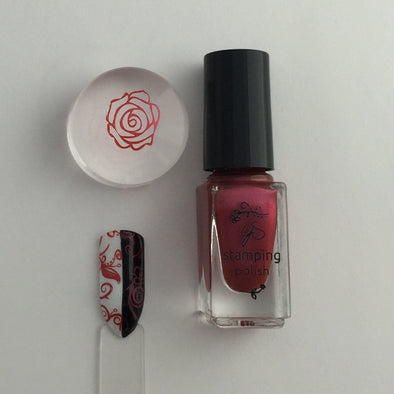 #33 Crimson Crush - Nail Stamping Color (5 Free Formula)