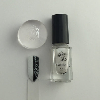 #34 Angelic White - Nail Stamping Color (5 Free Formula)