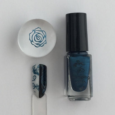 #36 Midnight Rendezvous - Nail Stamping Color (5 Free Formula)