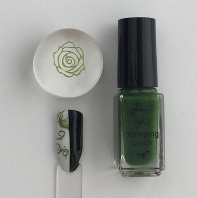 #38  Mystic Moss -  Nail Stamping Color (5 Free Formula)
